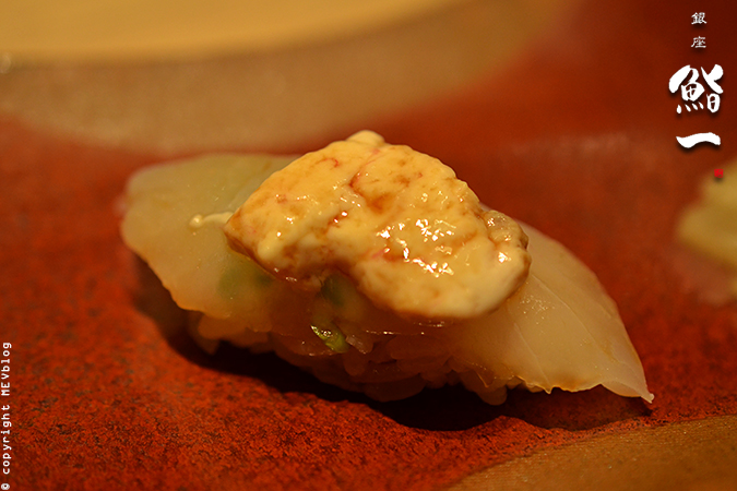 Kawahagi - Thread-sail Filefish with its liver