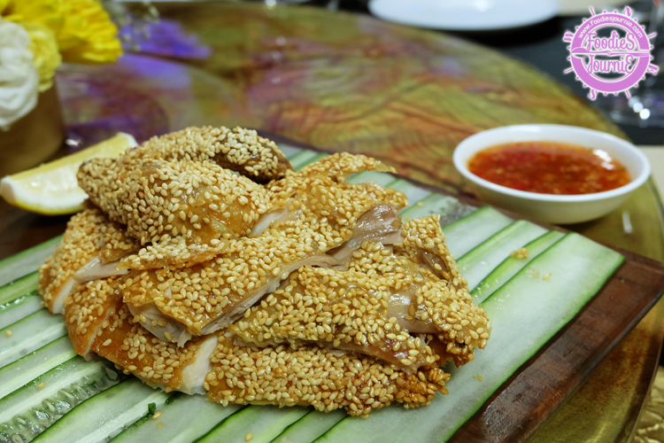 16 Roasted chicken with sesame