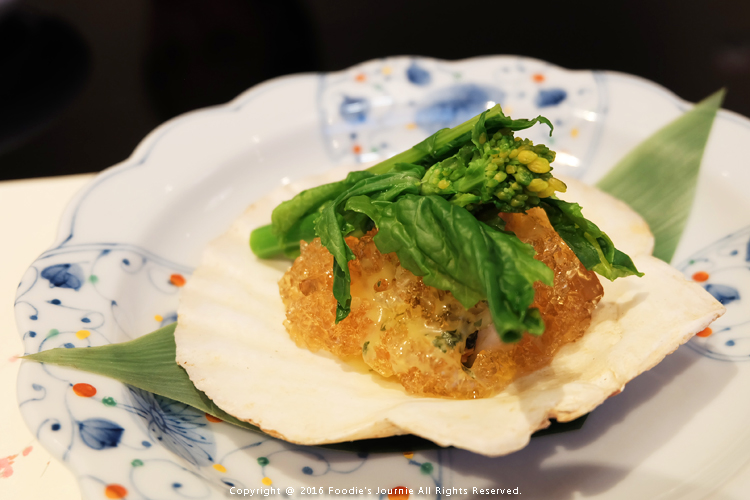 Umenohana 7 Scallop and Seasonal Vegetable with Ponzu Gelee