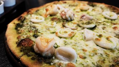 Tiger prawn, Pizza, Squid , Pesto, Italics, Italian food, Hungry hub